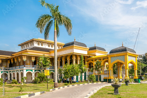 Foto op Aluminium Indonesië Sultan's Palace in Medan