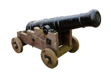 Seige Cannon Isolated On White Background