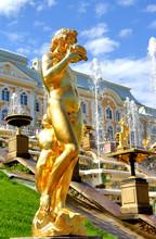 Statue In Peterhof Grand Palac...