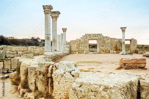 Foto op Aluminium Rudnes The ruins of Chersonesos