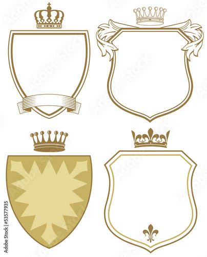 Valokuva Wappen mit Schild und Krone