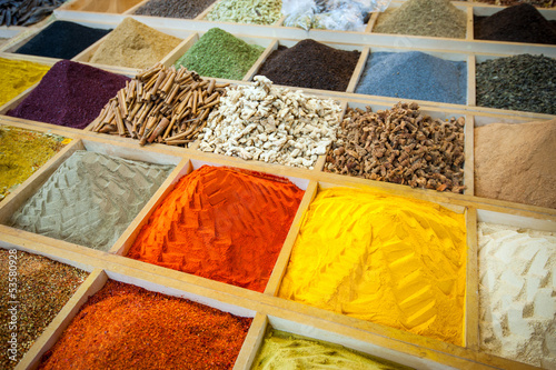 Photo sur Aluminium Herbe, epice Egyptian spice market