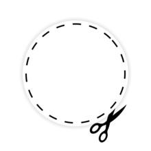 Schere Ausschneiden Symbol III