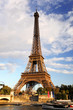 Eiffel Tower  with bridge in Paris, France