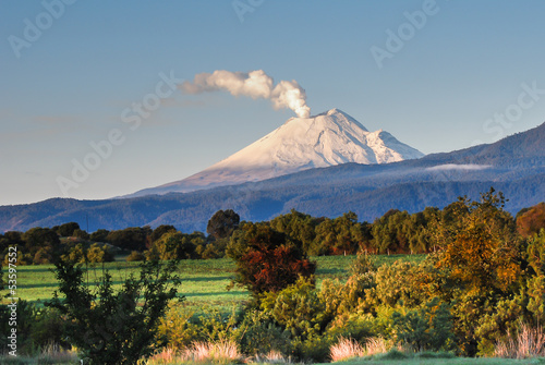 Photo sur Toile Mexique Volcan Popocatepetl