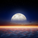 Full moon rise - 53598738