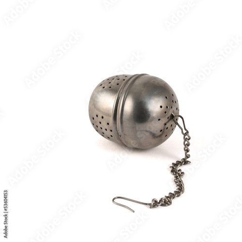Obraz na plátne Metallic tea strainer infuser isolated