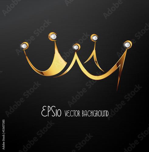 Golden crown, vector Fototapete