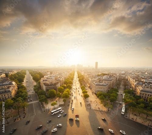 Poster de jardin Paris Arc de Triomphe Paris France