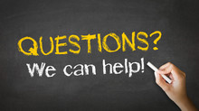 Questions, We Can Help Chalk I...