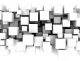 Abstract white 3d cubes - 53634916