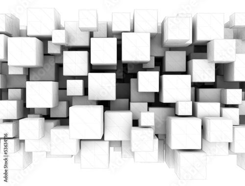 Fototapeta abstrakcyjne kostki 3D