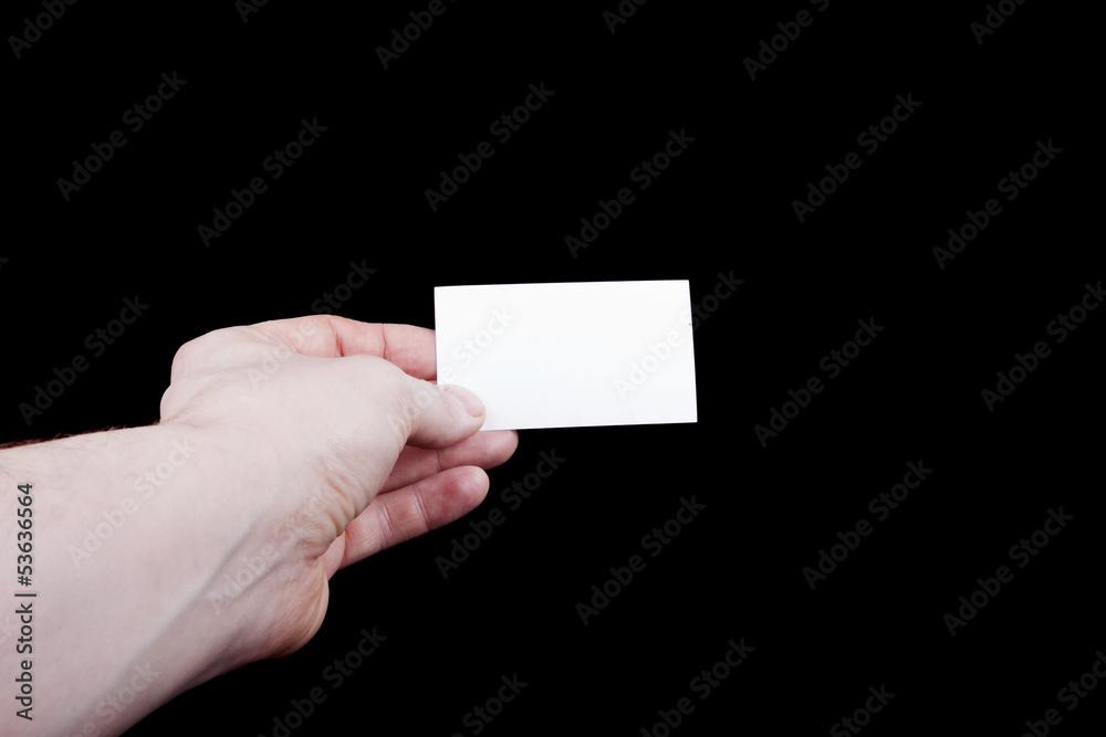 Leere Visitenkarte In Der Hand Foto Poster Wandbilder Bei
