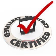 Certified Ring Word Check Mark Box Approved License Symbol