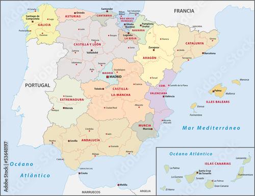 Fototapeta premium Spanien Administrative