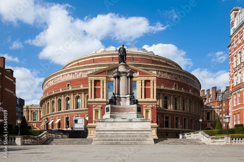 Photo Royal Albert Hall in London. It is a concert hall