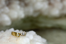 Ring On Raw Salt Cluster