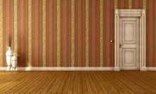 Vintage Interior With Old Door