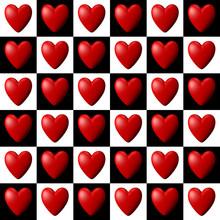 Chessboard Heart Pattern