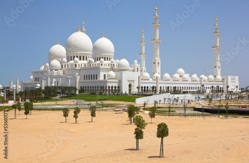 In de dag Abu Dhabi Abu Dhabi Mosque