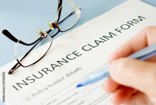 Fotografia  insurance claim form