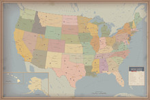 Highly Detailed Map Of United States. Highway And Population Map