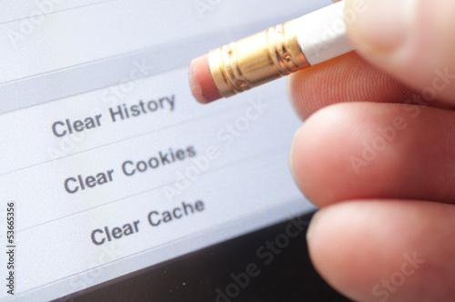 Fotografía  Clear Internet History