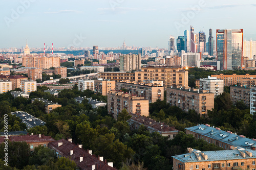Recess Fitting Havana Moscow skyline in early evening