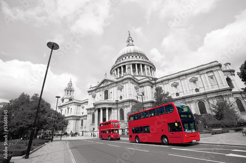 Türaufkleber London roten bus London Routemaster Bus, St Paul's Cathedral