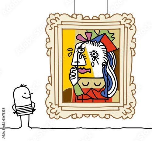 Fotografía  man watching a Pablo imitation