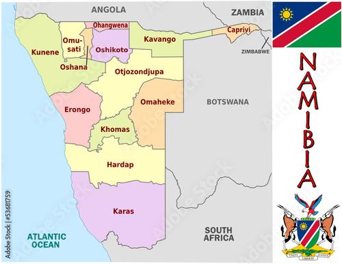 Namibia Africa national emblem map symbol motto – kaufen Sie diese ...