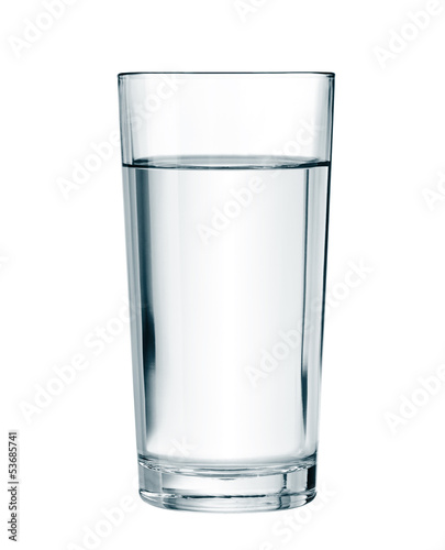 Staande foto Alcohol water glass isolated with clipping path included