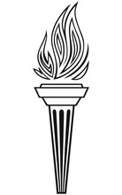 Symbol Torch Isolated On White Background