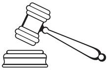 Judge Gavel Isolated On White ...