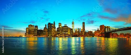 Foto op Aluminium New York New York City cityscape at sunset