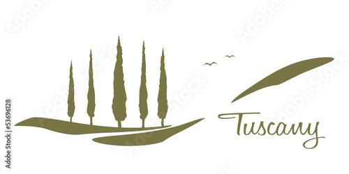 Poster Blanc Tuscany graphic