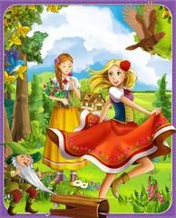 Obraz na płótnie Canvas The princesses castles - knights and fairies