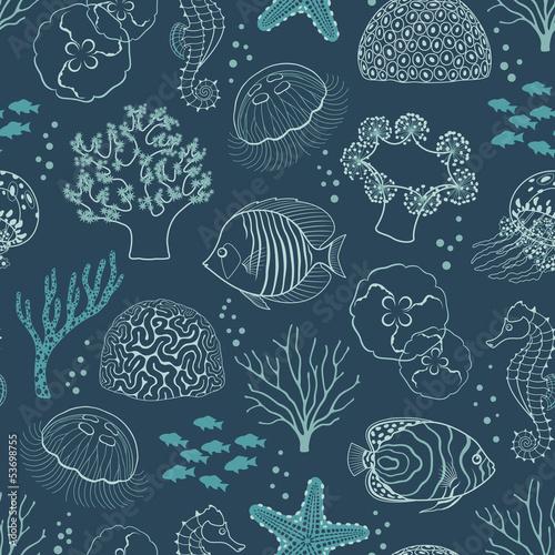 Underwater life pattern