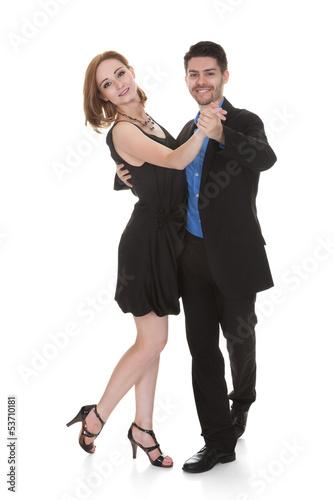 Foto-Vorhang - Young couple dancing (von Andrey Popov)