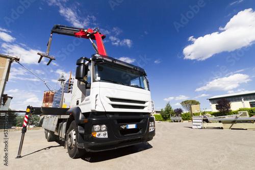Photo  Camion con gru