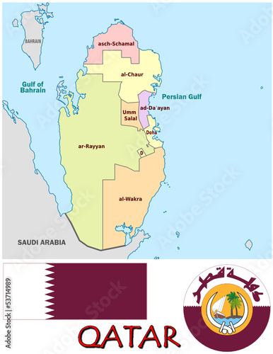 Qatar Middle East Map on