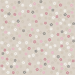 Fototapetawiosenna łąka drobne kwiatki nieskończony deseń na jasnym tle