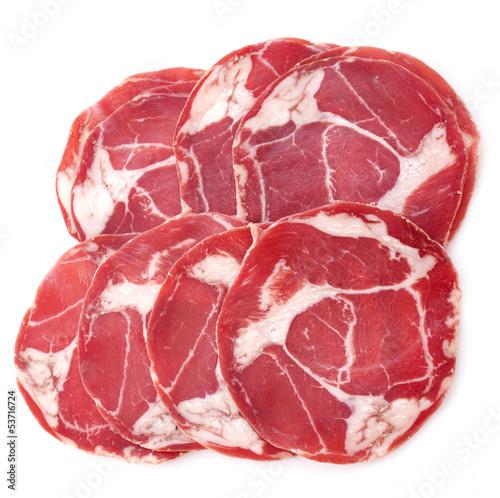 Fotografie, Obraz  slices of chorizo