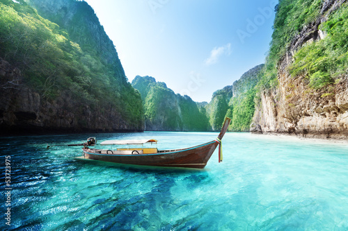 bay at Phi phi island in Thailand Canvas Print