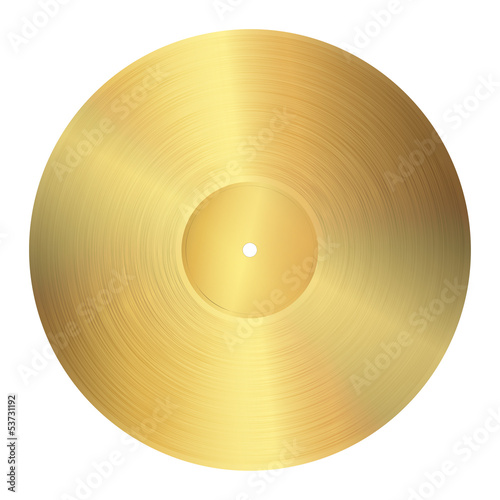 Fotografía  goldene Schallplatte