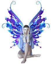 Strange Fairy In Blue