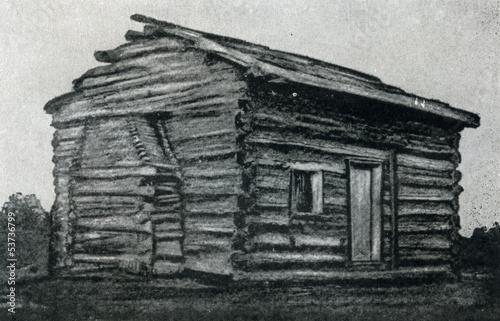 Fotografia  Birthplace of president Lincoln (replica)