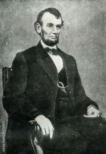 Photographie  Abraham Lincoln (9. february, 1864)
