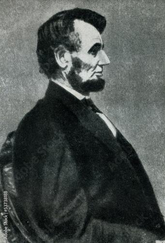 Fotografia  Abraham Lincoln (9. february, 1864)