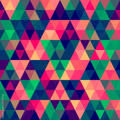 Deurstickers ZigZag Abstract Pixel Triangle Pattern